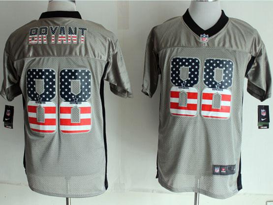 Mens Nfl New Dallas Cowboys #88 Bryant 2014 Usa Flag Fashion Gray Shadow Elite Jerseys