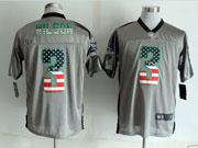 Mens Nfl New Seattle Seahawks #3 Wilson 2014 Usa Flag Fashion Gray Shadow Elite Jerseys