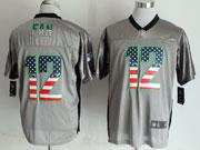 Mens Nfl New Seattle Seahawks #12 Fan 2014 Usa Flag Fashion Gray Shadow Elite Jerseys