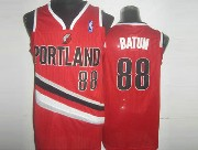 Mens Nba Portland Trail Blazers #88 Batun Red (v-neck Portland) Jersesy