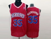 Mens Nba Philadelphia 76ers #35 Weatherspoon Red (blue Number) Mesh Jersey
