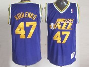 Mens Nba Utah Jazz #47 Kirilenko Purple Hardwood Classic Jersey