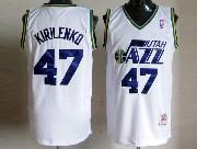 Mens Nba Utah Jazz #47 Kirilenko White Hardwood Classic Jersey