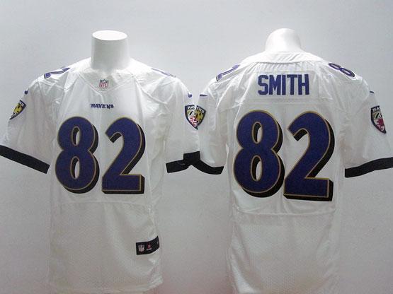 Mens Nfl Baltimore Ravens #82 Torrey Smith White (2014 New Fl) Elite Jersey