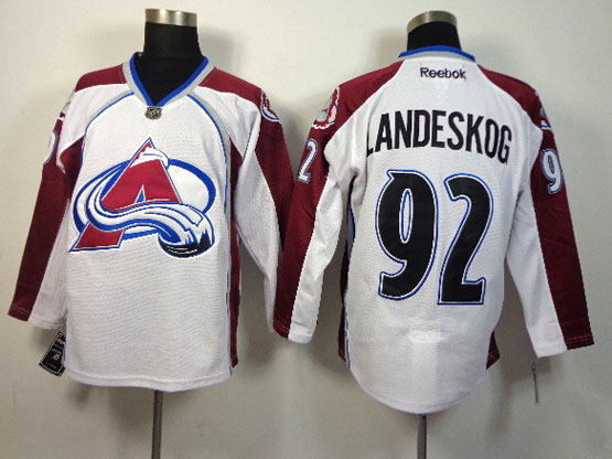 Mens reebok nhl colorado avalanche #92 landeskog white Jersey