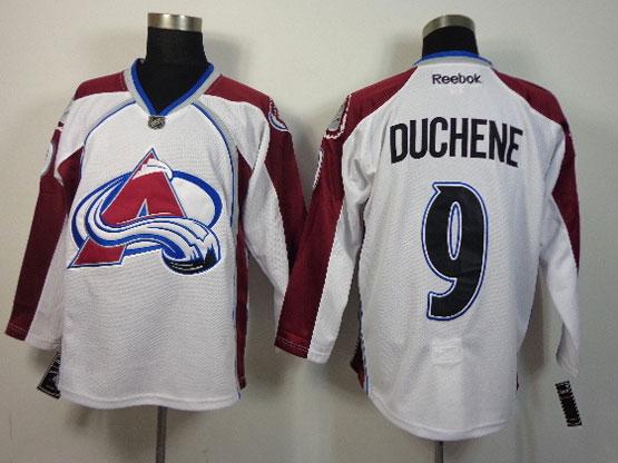 Mens reebok nhl colorado avalanche #9 duchene white Jersey