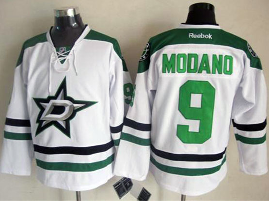 Mens reebok nhl dallas stars #9 modano white Jersey