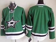 Mens reebok nhl dallas stars (blank) green Jersey