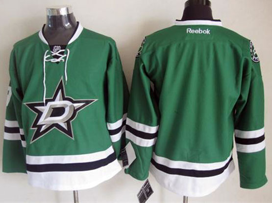 Mens reebok nhl dallas stars (blank) green Jersey
