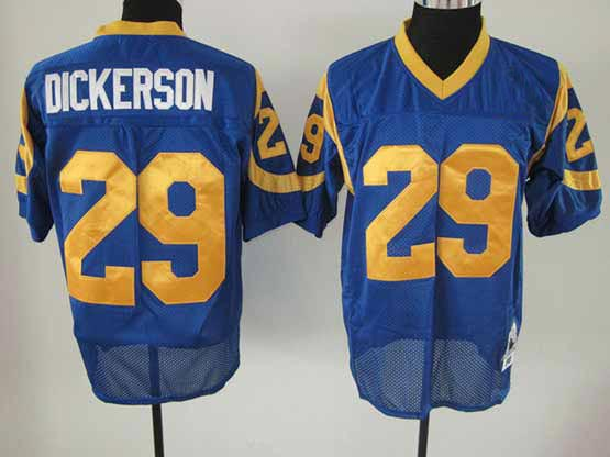 Mens nfl la rams #29 dickerson blue throwbacks Jersey