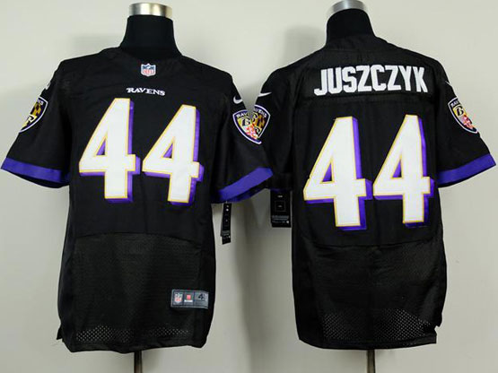 Mens Nfl Baltimore Ravens #44 Kyle Juszczyk Black (2014 New Fl) Elite Jersey
