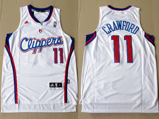 Mens Nba Los Angeles Clippers #11 Crawford White Jersesy (p)