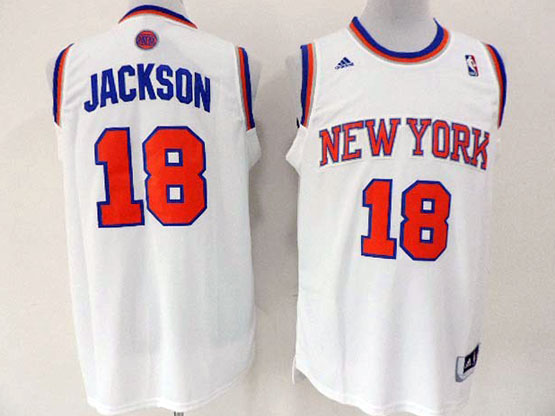Mens Nba New York Knicks #18 Jackson White Revolution 30 Jersey (p)