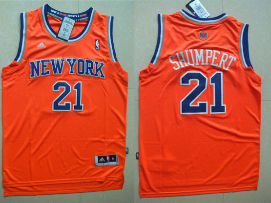 Mens Nba New York Knicks #21 Shumpert Orange Jersey (p)