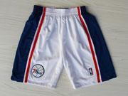 Nba Philadelphia 76ers White Throwbacks Short Sp