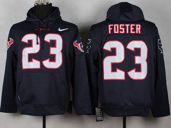 Mens Nfl Houston Texans #23 Foster Blue (nk Team Logo) Pullover Hoodie Jersey