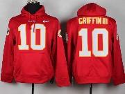 Mens Nfl Washington Redskins #10 Griffin Iii Red (nk Team Logo) Pullover Hoodie Jersey