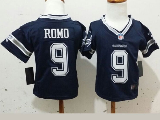 Kids Nfl Dallas Cowboys #9 Romo Blue Game Jersey