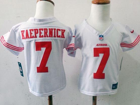 kids nfl San Francisco 49ers #7 Colin Kaepernick white jersey