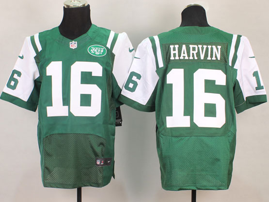 Mens Nfl New York Jets #16 Harvin Green Elite Jersey