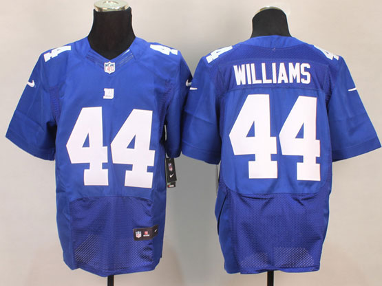 Mens Nfl New York Giants #44 Williams Blue Elite Jersey