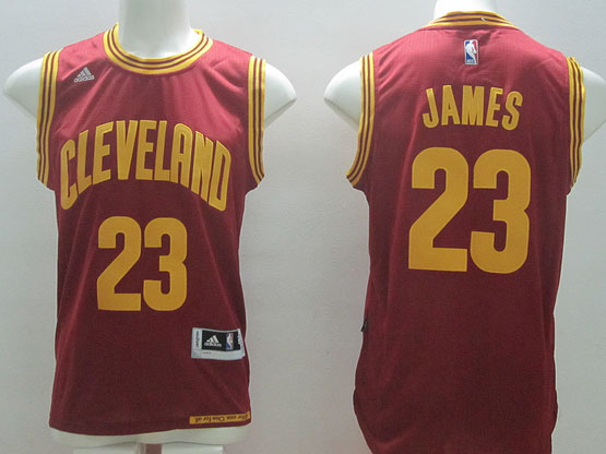 Mens Adidas Cleveland Cavaliers #23 Lebron James Red Swingman Road Jersey