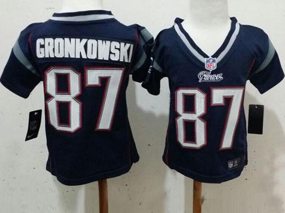 Kids Nfl New England Patriots #87 Gronkowski Blue Jersey