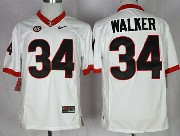 Mens Ncaa Nfl Georgia Bulldogs #34 Walker White Sec Limited Jersey