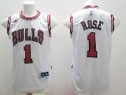 Mens Nba Chicago Bulls #1 Rose White (bulls 2015 New) Jersey