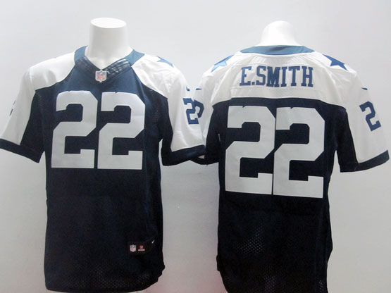 Mens Nfl Dallas Cowboys #22 E.smith Blue Thanksgiving Elite Jersey