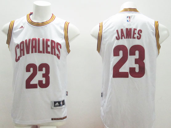 Mens Adidas Cleveland Cavaliers #23 Lebron James White Home Jersey