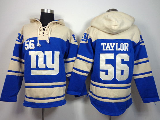 Mens Nfl New York Giants #56 Taylor Blue (team Hoodie) Jersey