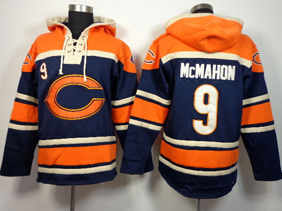 Mens Nfl Chicago Bears #9 Mcmahon Blue (team Hoodie) Jersey