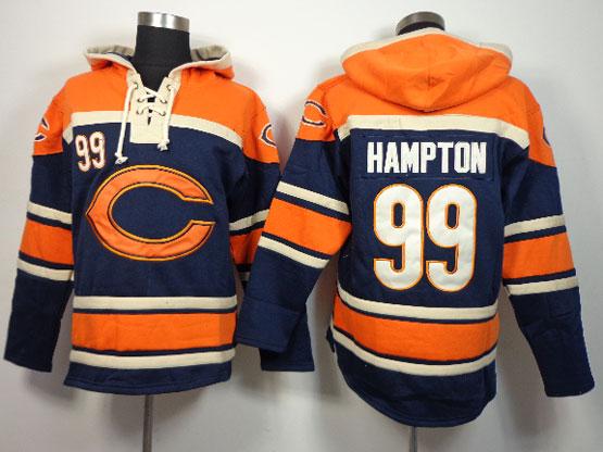 Mens Nfl Chicago Bears #99 Hampton Blue (team Hoodie) Jersey(sn)