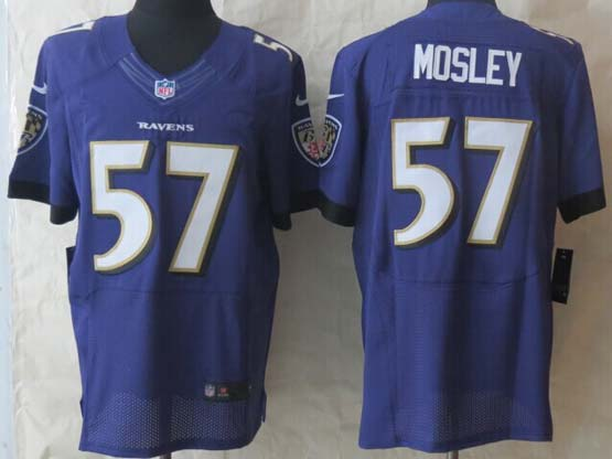 Mens Nfl Baltimore Ravens #57 C. J Mosley Purple (2014 New) Elite Jersey