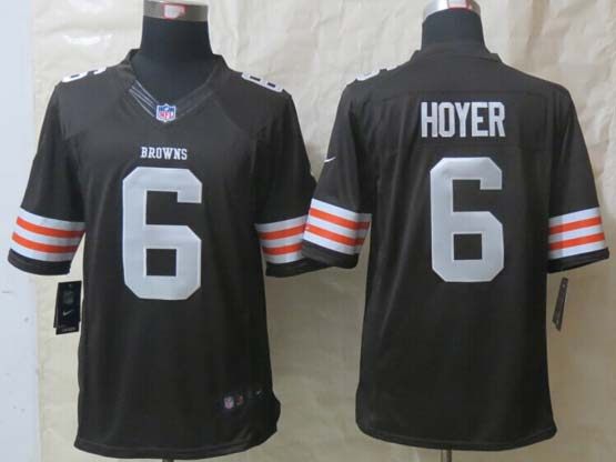 Mens Nfl Cleveland Browns #6 Hoyer Brown Limited Jersey