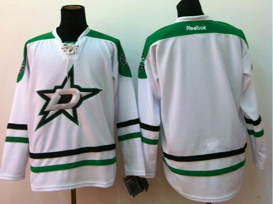 Mens reebok nhl dallas stars (blank) white Jersey