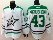 Mens reebok nhl dallas stars #43 nichushkin white Jersey