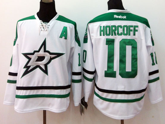 Mens reebok nhl dallas stars #10 horcoff white a patch Jersey