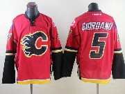 Mens Reebok Nhl Calgary Flames #5 Giordano Red Jersey