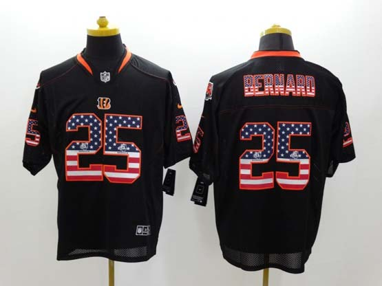 Mens Nfl Cincinnati Bengals #25 Bernard Black (2014 Usa Flag Fashion)elite Jersey