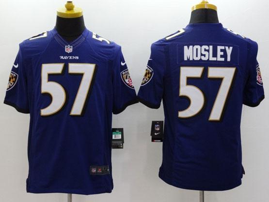 Mens Nfl Baltimore Ravens #57 C. J Mosley Purple (2014 New Fl) Limited Jersey