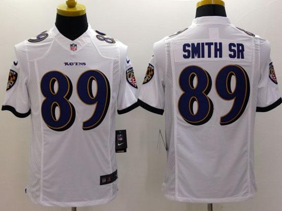 Mens Nfl Baltimore Ravens #89 Steve Smith Sr Sr White (2014 New Fl) Limited Jersey