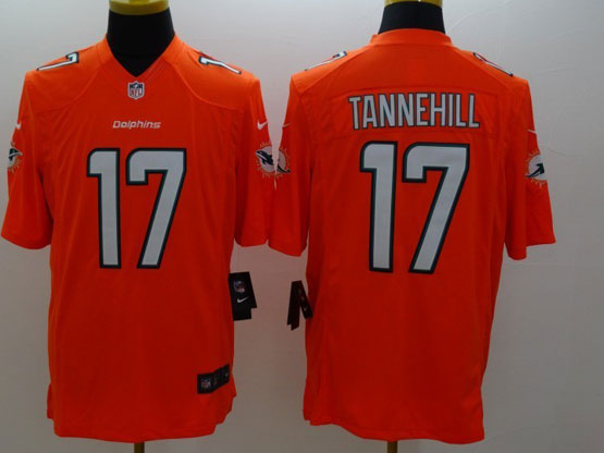 Mens Nfl Miami Dolphins #17 Tannehill Orange (2013 New) Limited Jersey