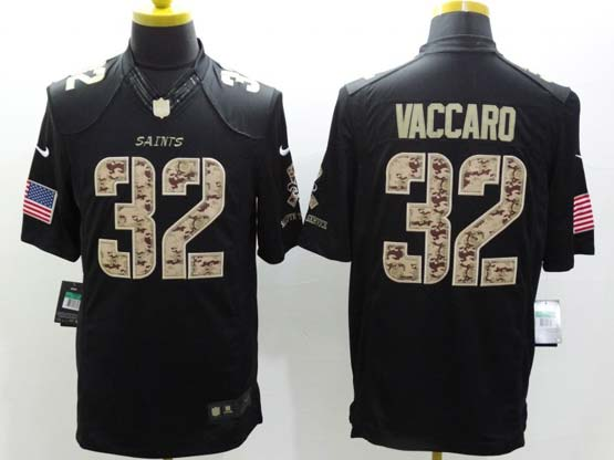Mens Nfl New Orleans Saints #32 Vaccaro Salute To Service Black Limited Jersey
