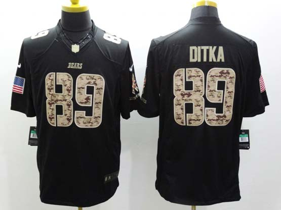 Mens Nfl Chicago Bears #89 Ditka Salute To Service Black Limited Jersey