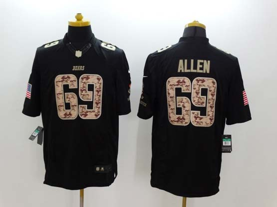 Mens Nfl Chicago Bears #69 Allen Salute To Service Black Limited Jersey