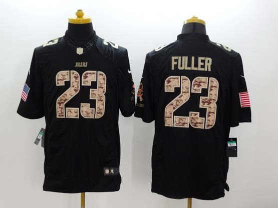Mens Nfl Chicago Bears #23 Fuller Salute To Service Black Limited Jersey
