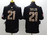 Mens Nfl Washington Redskins #21 Taylor Salute To Service Black Limited Jersey