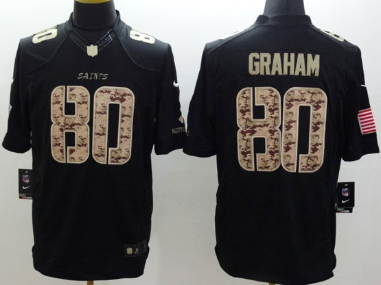 Mens Nfl New Orleans Saints #80 Graham Salute To Service Black Limited Jersey
